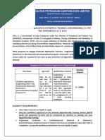 HPCL Advt GATs Engineering 2017-18
