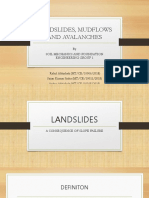 Landslides, Mudflows and Avalanches