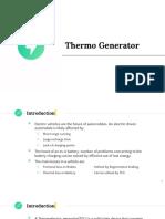 Thermogenerator
