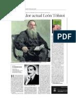 """""""El pensador actual León Tolstói"""" - Reseña para el suplemento cultural semanal 'Artes & Letras' de  Heraldo de Aragón (16.05.2019)"""