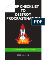 7 Steps to Destroy Procrastination Eric Kaisen 1