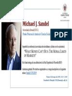 20190503 CARTEL Conferencia Michael Sandel 24 de Mayo