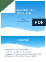 Ppt Mikrobiologi II Sterilisasi