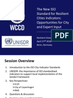 The New ISO Standard for Resilient Cities Indicators