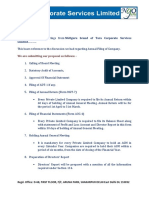Proposal- Annual Filing With Fee