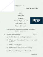 Bsc Botany m Sem 4 Paper m 4.2 2015