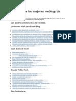 Titulares de los mejores weblogs de Excel.docx