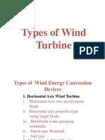 Horizontal Axis Wind Turbine & Types