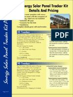 Senergy Resources Solar Tracker Systems Pricing and Specs