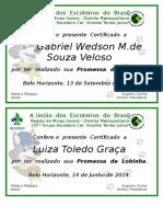 Certificado Promessa