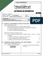 examen 2° sec aritmetica