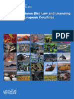 A Review of Game Bird Law Licensing in Selected European Countries