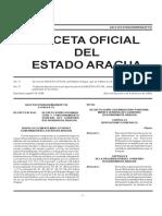 Gaceta Oficial Del Estado Aragua Extraordinaria Nº 316 2018