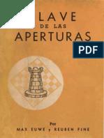 Euwe Max & Fine Robert - Clave de las aperturas, 1950-OCR, X, 65p.pdf