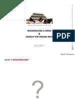 Regionalism in Indian Architecture