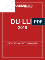 DU LLB 2018 Official Question Paper