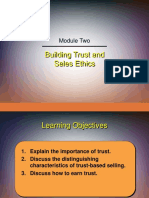 Chapter 2 - Building Trust and Sales Ethics