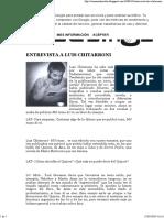 Entrevista a Luis Chitarroni