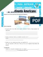 Ficha Continente Americano Para Cuarto de Primaria (1)