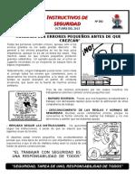 INSTRUCTIVO DE SEGURIDAD N° 292 CORREGIR LOS ERRORES PEQUEÑOS ANTES DE QUE CREZCAN.doc