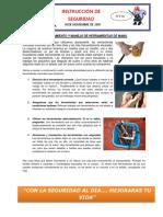 INSTRUCTIVO DE SEGURIDAD N° 314 Almacenamiento y manejo de herramientas de mano.docx