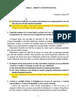 Grile - Constituțional II Rezolvate