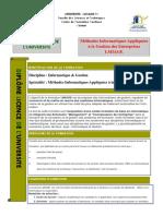 Licence professionnelle Méthodes Informatiques Appliquées à la Gestion des Entreprises LMIAGE