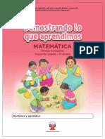 Kit Evaluacion Demostrando Aprendimos 2do Primaria Matematica 1trimestre Entrada1