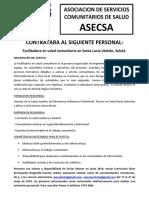 Aviso Contratacion Facilitadora SLU