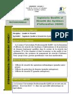 licence professionnelle Ingénierie Qualité et Sécurité des Systèmes d'information