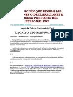Legislación sobre opiniones o declaraciones a la prensa por personal PNP