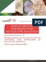 TS18 (CE)v02 Es Plan de Manejo Sostenible en La Acuicultura Ecologica