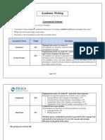 Academic Writing_Assessment Scheme