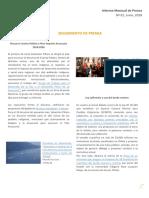 Informe prensa N°1, JUNIO 2018 UPP-CIIR.pdf
