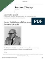 Lasswell's Model