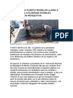 15-May-2019 Gobierno de Puerto Morelos Llama a Ciudadanos a Eliminar Posibles Criaderos de Mosquitos