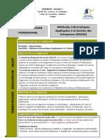Master professionnel Méthodes Informatiques Appliquées à la Gestion des Entreprises (MIAGE)