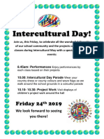 intercultural day poster 2019