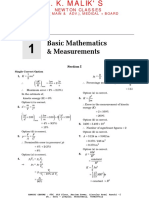 Chapter 1 - Basic Mathematics & Measurements