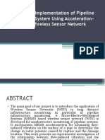 Pipeline Monitoring System Using Wireless Sensor Network