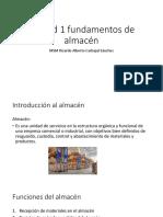 Unidad 1 Fundamentos de Almacén