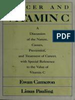 Cancer and Vitamin C - Cameron, Ewan and Linus Pauling pdf ebook