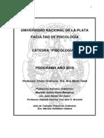 Programa Psicologia 1 2019