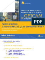 Taller Criterios RECIST 2013 Def
