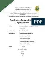 1 Significado y Desarrollo de Las Organizaciones