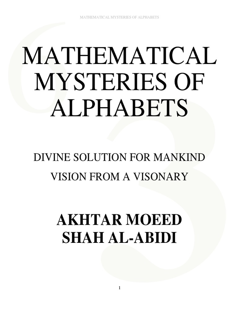 Mathematical-Mysteries-Of-Alphabets-Version-2 pdf | Muhammad | God
