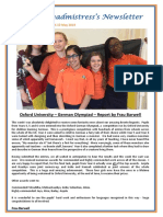 Newsletter No 75 - 17th May 2019