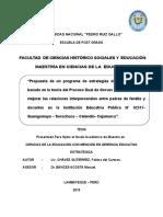 Tesis Propuesta de Un Programa de Estrategias Para Relaciones Interpersonales