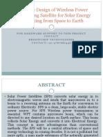Solar Wireless Power Satellite Model