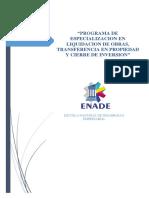 Proyecto Programa Liquidacion - Obras Pm i 2018